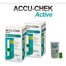 ACCU CHEK Active 100 Test Strips(100Sheets) Tracking number provided_Exp 01/2018