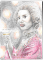 Cryptozoic Outlander Season 3 Sketch Card Hand Drawn by Rosaura Santana