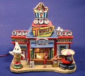 Lemax Harvest Crossing Lighted Twirly's Soft Serve Ice Cream Shop 75526