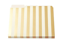 Kate Spade File Folders Gold Stripe Design Fashion Letter Tab Office Desk 6 NEW