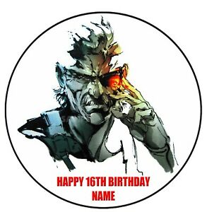 Metal Gear Solid Edible Image icing cake topper party decoration video game