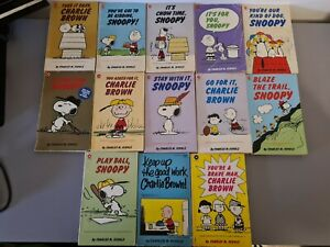 13 PEANUTS, CHARLIE BROWN, SNOOPY BOOKS CORONET VINTAGE BUNDLE LOT