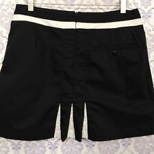 Adidas Stretch Tennis Golf Skirt Skort Womens Size 8 Athletic Black Cotton Blend