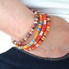 Ensemble de bracelets africains extensibles empilables pour homme ou femme nacre