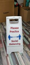 Social Distancing - One Way freestanding sign made in Cheshire FREE P+P