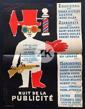 RAYMOND SAVIGNAC Nuit de la PUBLICITE Affiche 1952