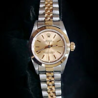 Lady Rolex 2Tone 18K Gold/Stainless Steel Oyster Perpetual Watch Champagne 67183