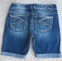 SILVER Jeans New Mid Rise Suki Denim Stretch Jean Shorts 28