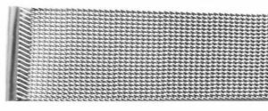 20mm End Tapered 2 Piece Stainless Steel Mesh Link Band With Slide Thru Clasp