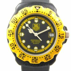 TAG HEUER 380.513/1 F1 YELLOW BLACK DATE MEN'S VINTAGE WATCH SWISS MADE QUARTZ
