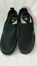 Brand New! Crocs harborline nubuck loafer black slip on Men size m7 FREE SHIP!