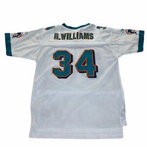Reebok Ricky Williams 34 Miami Dolphins NFL Youth Football Jersey LG 14-16