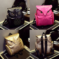 Women Cute Printed Owl Shoulder Bag Girls Casual Travel Backpack Purse Schoolbag
