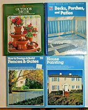 Lot of 4 Books Home Improvement Repair Design Outdoor Projects Fences, Decks