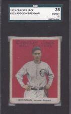 1915 Cracker Jack baseball card 115 Addison Brennan Chicago Cubs Feds SGC 35 2.5