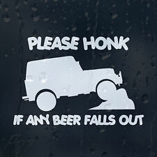 Funny Jeep Please Honk If Any Beer Falls Out Car Decal Vinyl Sticker