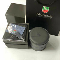 Leather TAG HEUER Watch Box Luxury Jewelry Case Kit Gray Full Set Warranty Card