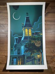 """""""Peter And Wendy"""" Art Print Poster By Laurent Durieux Signed Mondo Peter Pan"""