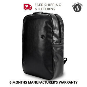 Skunk Elite Smell Proof Weather Proof Back Pack - w / Combo Lock Black Leather