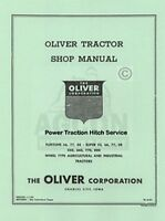 Oliver Super 55 880 Power Traction Hitch Service Manual
