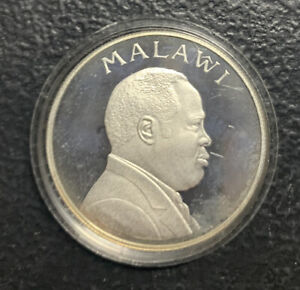 1995 Malawi 5 Kwacha UN For Peace / .84 Oz Silver Proof & *No Reserve!