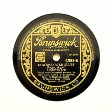 "TEDDY GRACE ""Down Hearted Blues / Monday Morning"" (EE+) BRUNSWICK 02688 [78 RPM]"