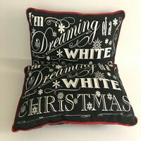 """Heather Myers I'm Dreaming of a White Christmas Throw Pillows 12 x 16"""" Set of 2"""
