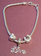 TRUTH Silver Lucky in Love charm collection Bracelet