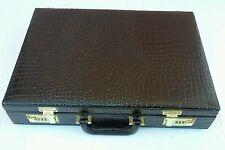 Vintage MONACO Alligator(?) Briefcase- Attache Case- NICE! Inside MINT!