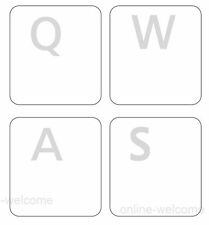 ENGLISH US KEYBOARD STICKER LABEL FOR COMPUTER LAPTOP WHITE LETTERS TRANSPARENT