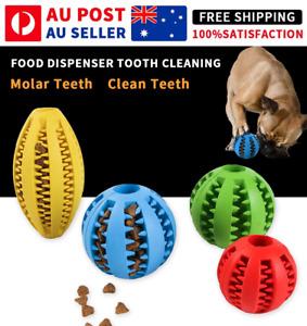 Dog Chew Toy Rubber Ball Dental Clean Teeth Healthy Food Dispenser Puppy Pet