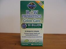 Raw Probiotics Colon Care 50 Billion 30 Vegetarian Caps OnceDaily Garden of Life