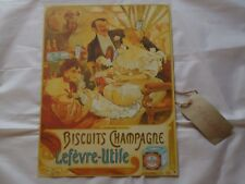 French Champagne Biscuits Picture Plaque Metal Sign Art Deco   Wine Bar Pub Gift