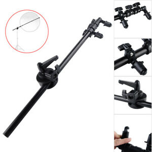 Photography Reflector Holder Stand Boom Arm Clip Grip w/ Clip Swivel Grip Head