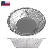 "5"" Aluminum Foil 4-7/8"" Tart Pan Mini Pot Pie Disposable Baking 5.7 fl oz"