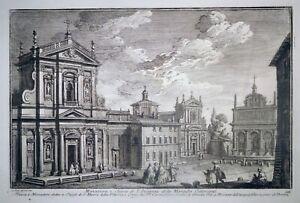 Radierung, S. Susanna in Rom, G. Vasi, 1747, Delle Magnif. Di Roma, Aqua Felice