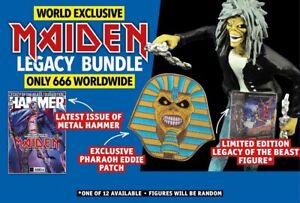 Metal Hammer August 2018: IRON MAIDEN FIGURE+PATCH+POSTERS+CARDS - ONLY 666 MADE