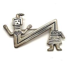 Felix Joe FJ Navajo Native American Sterling Silver Hand Made Kachina Pin