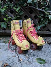 Moxie Beach Bunny Roller Skates Yellow Size 8