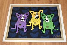George Rodrigue Blue Dog Mardi Gras Dogs Silkscreen Print Signed Numbered Art