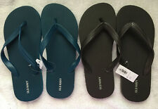 2 pairs OLD NAVY Men's FLIP FLOPS Size 6/7~ TEAL & BROWN NWT