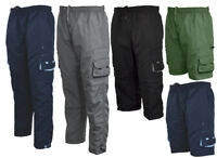 Mens Zip Off Cargo 3 in 1 Trousers Tracksuit Sport Casual Bottoms 3/4 Shorts