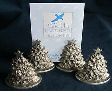 19 Pewter Christmas Tree Figurine Place Card Holder Bridal Wedding Favor (Gray)