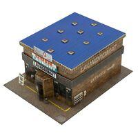 1/64 Slot Car HO Coin Laundry Laundromat Diorama Building Kit Fits AFX, Aurora