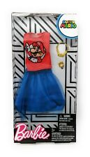 Barbie Super Mario Bros RED TOP & BLUE SKIRT Barbie Doll Fashion Pack