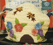 How to make a pretty Vintage bee, beehive tea cosy,cozy,cosie-crochet pattern