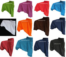 INDIAN BAGGY GYPSY HAREM PANTS YOGA MEN WOMEN STYLISH ONE COLORED TROUSERS