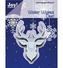 Stanz-schablone Cutting die Winter wishes deer Hirsch Xmas JoyCrafts 6002/1018