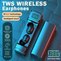 TWS Wireless Bluetooth 5.1 Earphones Waterproof Headphones Earbuds Stereo In Ear