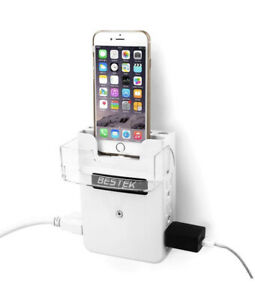 New In Box Bestek Wall Charger - Wall charge station with iphone dock Light USB